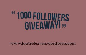 1000 followers giveaway