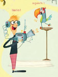 Science fair parrot interpreter