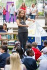 Children's Author Lou Treleaven at the reading event at Hay's Galleria