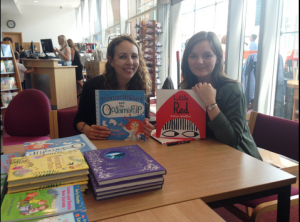 signing books with Bethan Woollvin