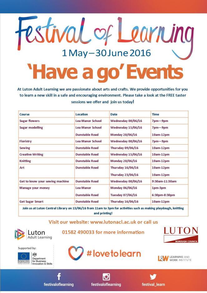 Festival of learning leaflet