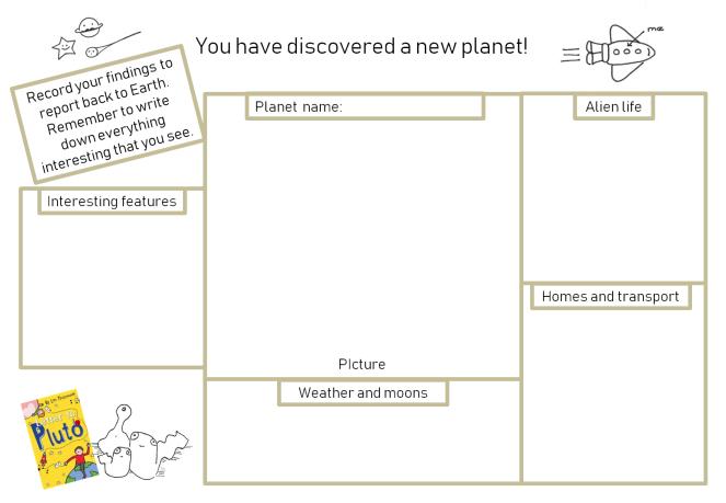 design a planet sheet